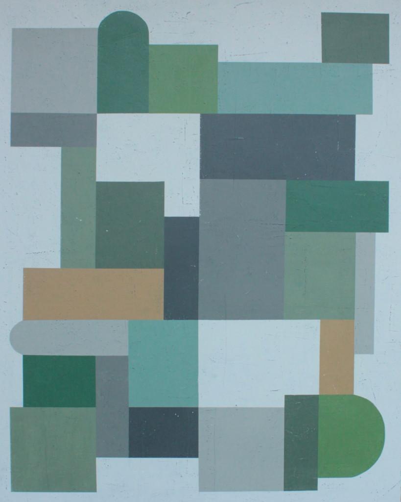 Geometrisk abstrakt maleri af Henriette Fabricius. Geometric abstraction by Henriette Fabricius Canvas 120 x 150 cm