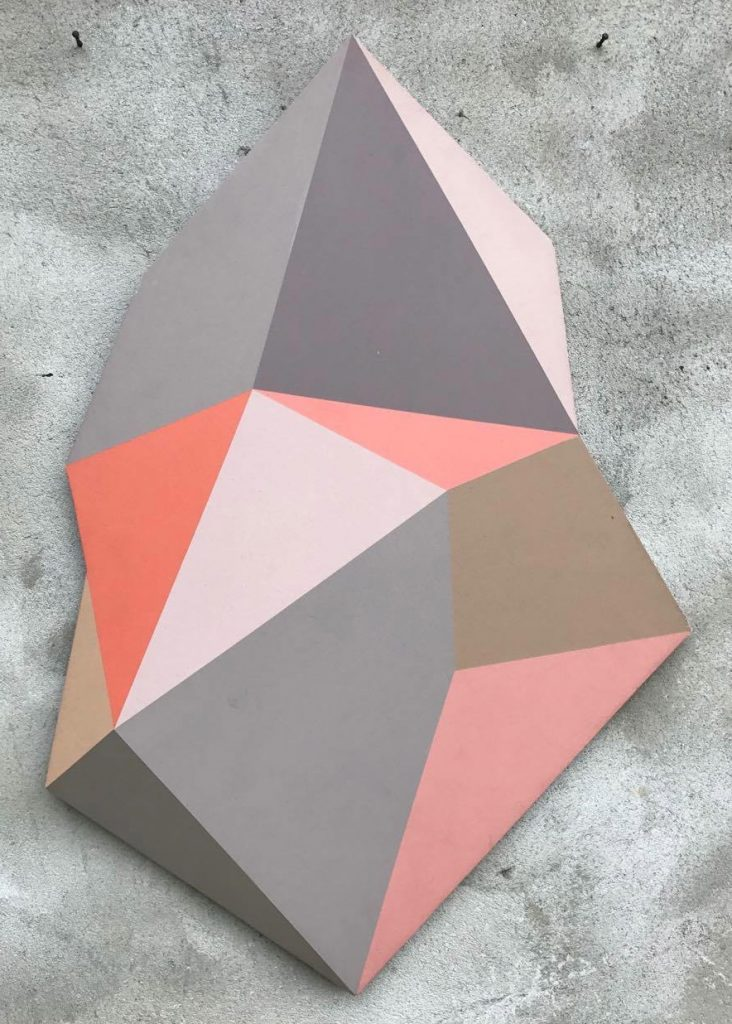 Geometric panel cut by Henriette Fabricius