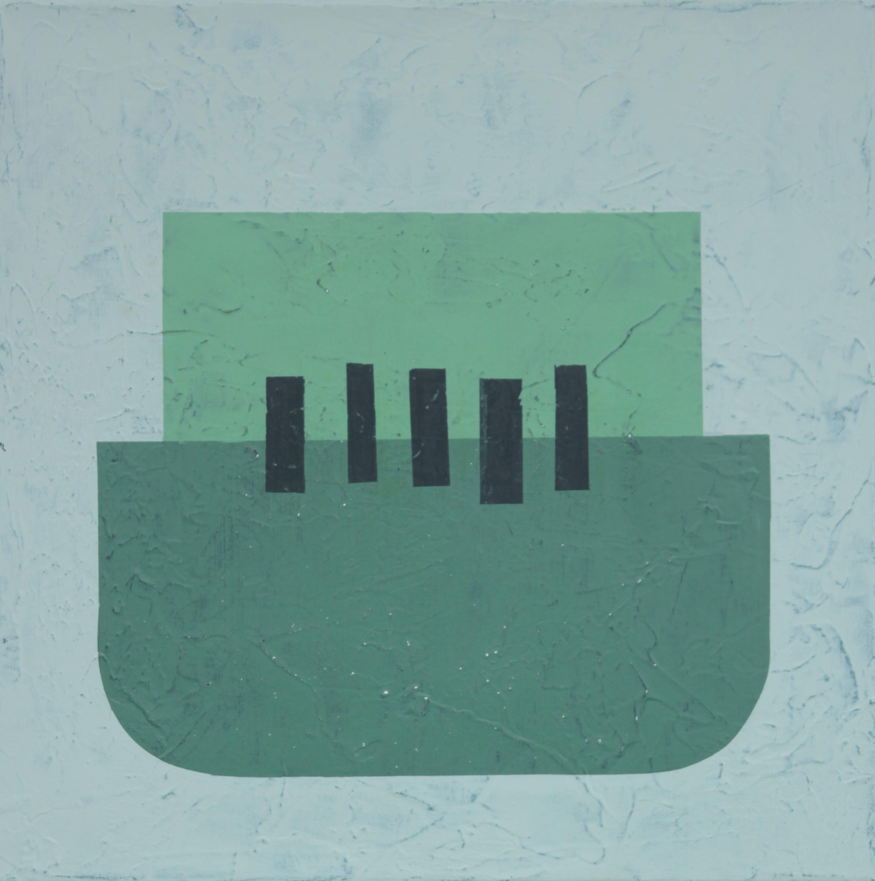 Geometrisk astrakt maleri af Henriette Fabricius Geometric abstraction by Henriette Fabricius