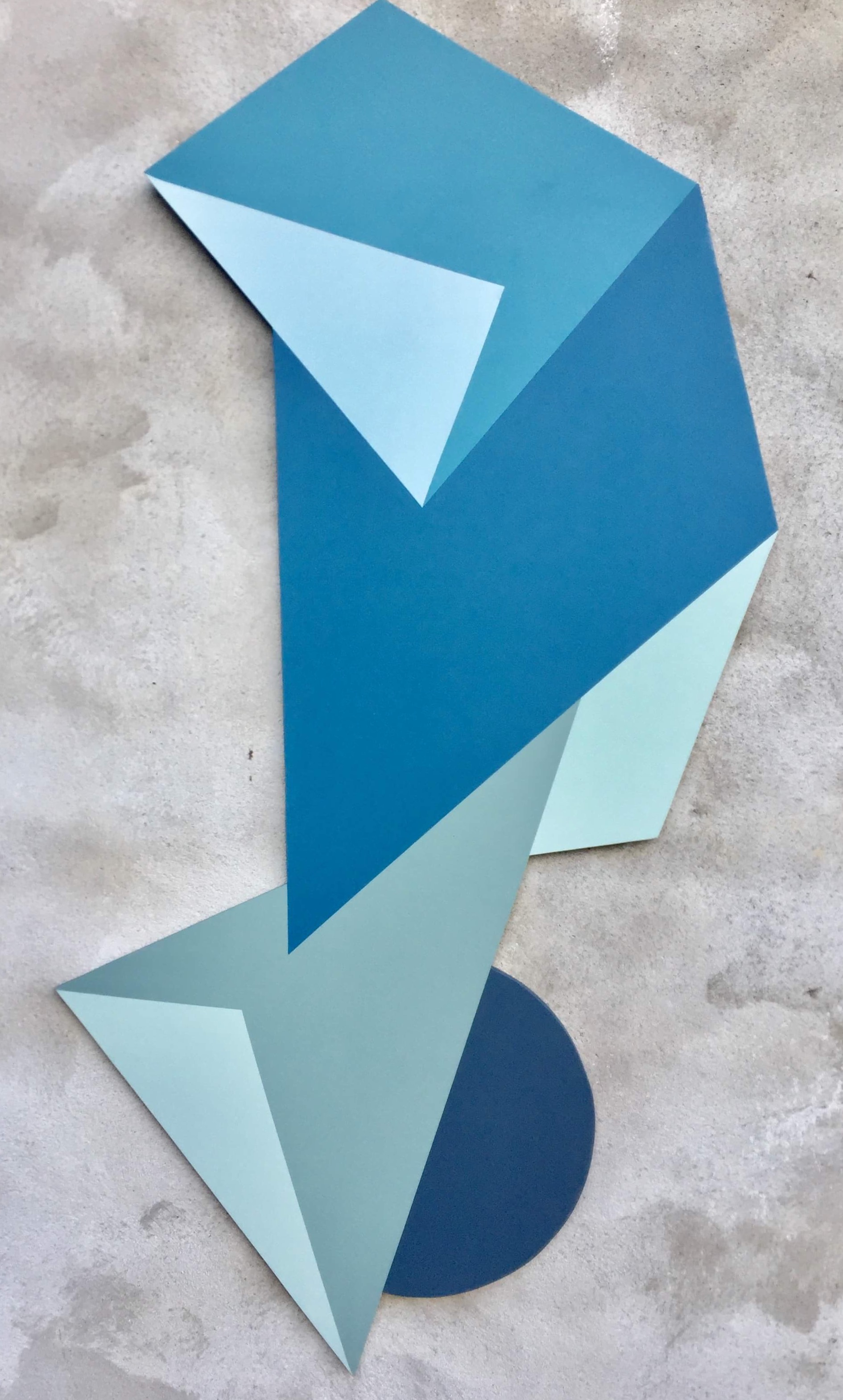 Geometric cut. Acrylic on panel. By Henriette Fabricius
