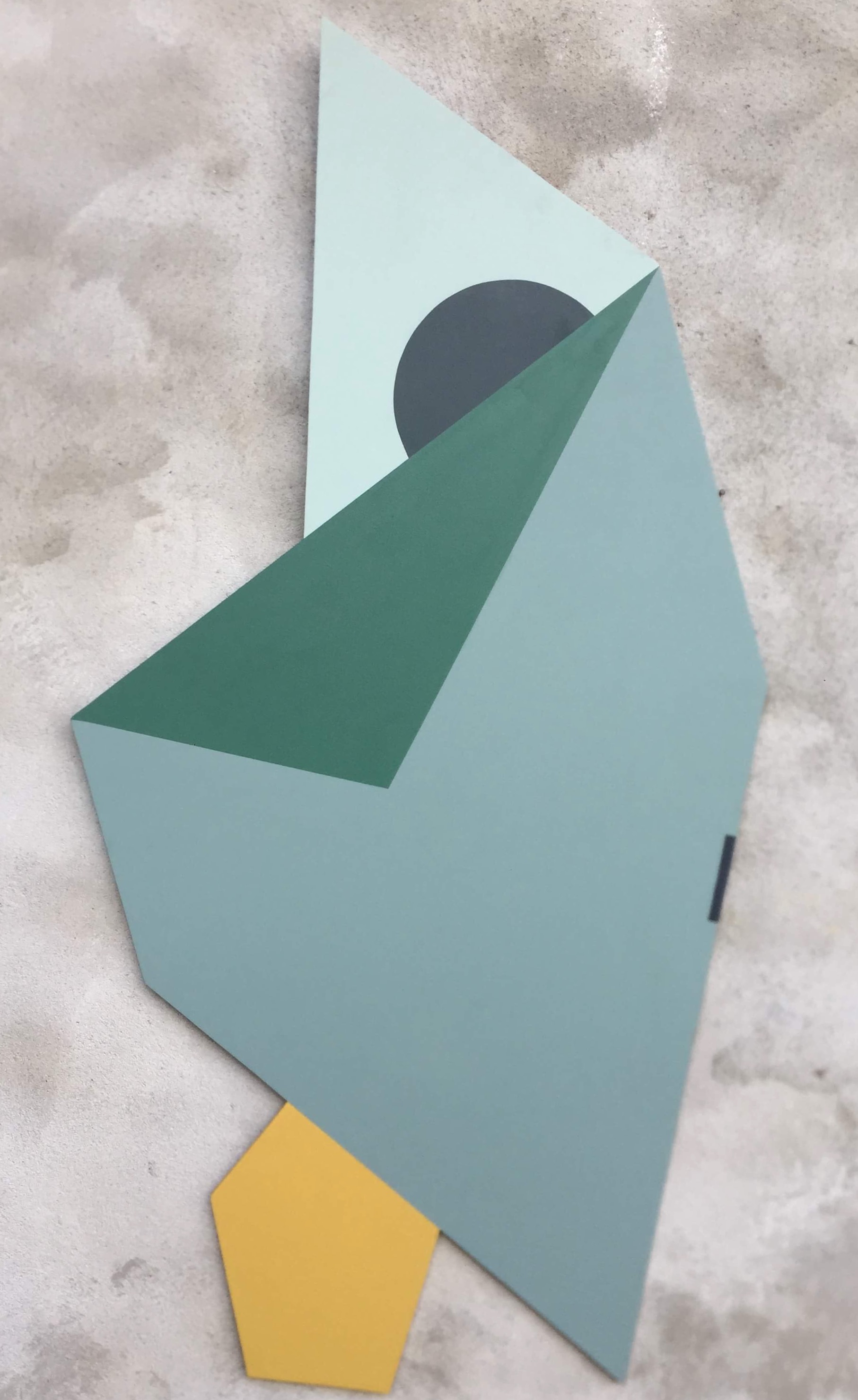 Geometric cut. Acrylic on panel. By Henriette Fabricius