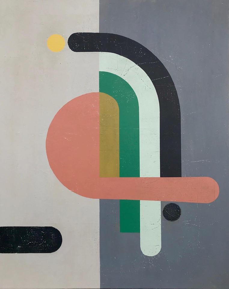 Moderne kunst til udstilling og salg
